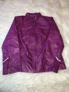 Jessica London Pink Leather Jacket Women's Size 14